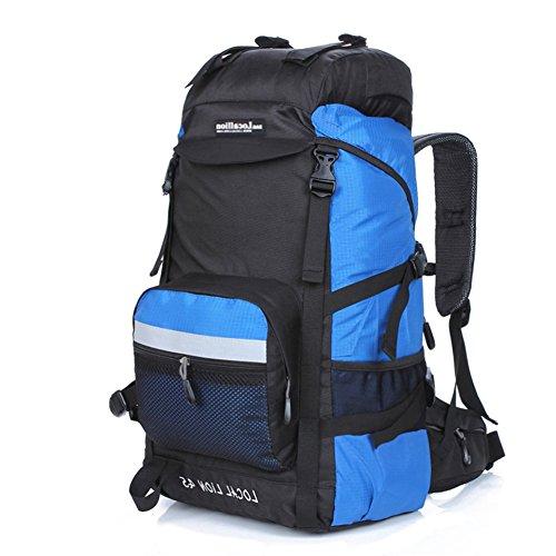 Cuckoo 45L Unisex Wasserdicht Outdoor Camping Rucksack Wandern Daypacks Bergsteigen Tasche mit Regenh¨¹lle Blau