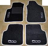 Fußmatten für Auto, Komplettset-Gummimatten passgenau mit Stickerei schwarz