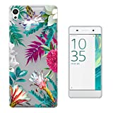 c0996 - Beautiful Tropical Plants Flora Palm Flowers Beach Summer Holiday P Design Sony Xperia X Fashion Trend Protecteur Coque Gel Rubber Silicone protection Case Coque