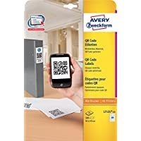 Avery Blockout QR Code Label 20 per Sheet 45x45mm White Square Ref L7121-25 [500 labels]