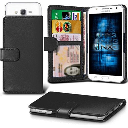 (Black) Samsung Xcover 550 Hülle Abdeckung Cover Case schutzhülle Tasche Verstellbarer Feder Mappe Identifikation-Kartenhalter-Kasten-Abdeckung ONX3