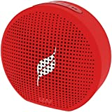 Leaf Pop- Portable Wireless Bluetooth Speaker with Mic, Loud and Clear Audio, SD Card Reader, Aux and Phone Stand (Ferrari Red)
