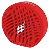 #7: Leaf Pop- Portable Wireless Bluetooth Speaker with Mic, Loud and Clear Audio, SD card reader, Aux, FM Radio and Phone Stand (Ferrari Red)