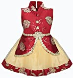 #9: Cute Fashion Kids Girls Baby Princess Satin and Soft Net Party Wear Frock Dresses Clothes for 3 Months to 8 Years