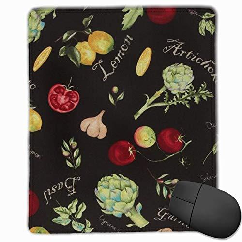 Mousepad Zitrone, Tomate, Knoblauch Gaming Mouse Pad Matte Sonderanfertigung rutschfest 25 x 30 x 0,3 cm (Knoblauch-matte)