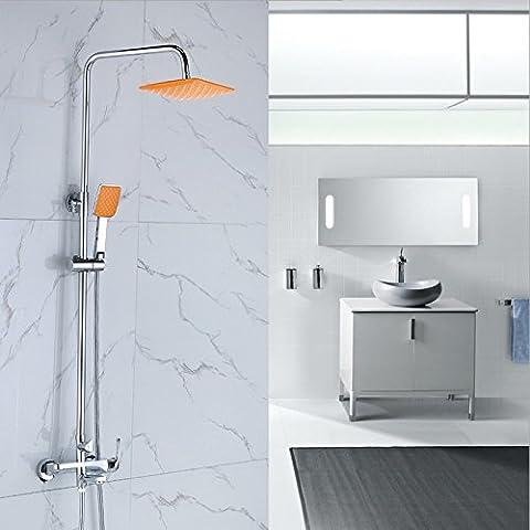 YanCui@ Rubinetti per doccia Set di tubi di rame placcatura doccia doccia valvola doccia rubinetto miscelatore celati