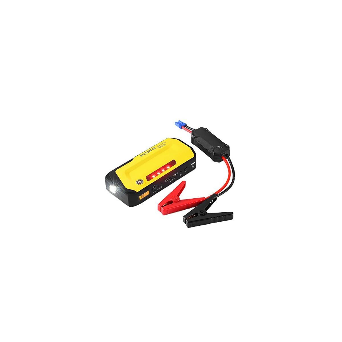 51xze2cWcsL. SS1200  - Jump Starter 18000mAh 600A, VicTsing Pack de Emergencia para Arranque de Coche (Cargador de batería para portátil y Smartphone,Dos Puertos USB de Carga y Linterna LED,luz de Advertencia,brújula)