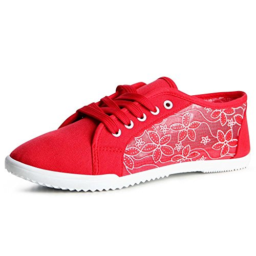 topschuhe24, Sneaker donna Rosso
