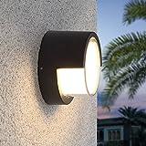 AMOS Außenwandlampe LED-Hof-Außengang wasserdichte Balkonterrasse moderne kreative Hausgartenlichter (Farbe : Weißes Licht)