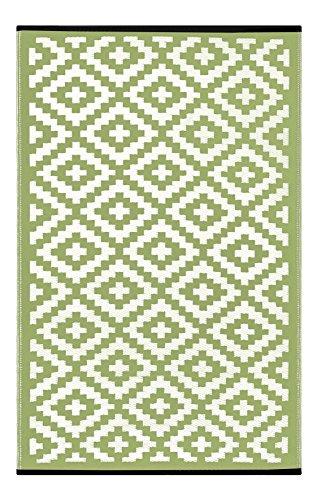 Green Decore - Alfombra de plástico Ligera y Reversible Nirvana para Interior y Exterior con diseño...