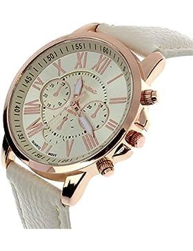 Watches Loveso Damen Frauen Kunstleder Armbanduhr (G)