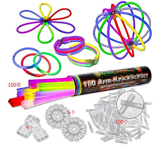 ONEVER 100 Glow Sticks Bracelets for Dance, Party Fillers (Glow Dance Stick)
