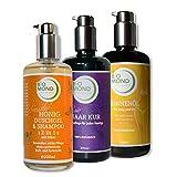 Set BIO Sonnenöl Sunoil BIOMOND 200 ml / Haarkur 200 ml / Honig Duschgel 200ml Naturlosmetik frische Pflanzenöle ohne Mineralöl