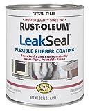 #4: Rust-Oleum 275116 Stops Rust Leak Seal Waterproof Rubber Coating (Clear - 946 ml)