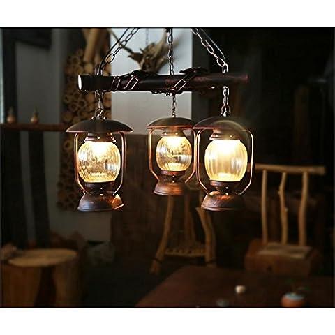 Lightning Ferret- Cafe lampadario pendente paese americano personalizzato albergo soggiorno illumina retro ristorante Ingegneria