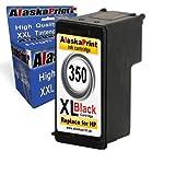 Alaskaprint 1x Refilled Cartucce d'Inchiostro compatibile con HP 350XL Stampanti Sostituzione per HP Deskjet D4200 D4260 D5360 D4263 D4300 D4360 D4363 D4368 D5345 DeskJet 4360 HP Officejet J6413 J6415 J5735 J5788 J6405 J5738 J5740 J5750 J645 J6450 J7500 J6480 J6488 J 5785 HP Photosmart C5290 C5270 C5273 C5275 C5283 C5580 C6280 C7280 hp deskjet j4524 hp deskjet j4580hp officejet j4580 c4280 c4480 c5280 HP Officejet J5780, Alta Capacità,Con l'ultimo chip (1Nero)