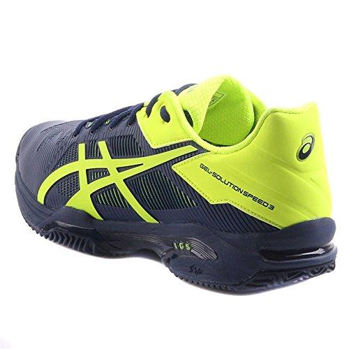 Chaussures Asics Gel-solution Speed 3 Clay INDIGO BLUE / SAFETY YELLOW