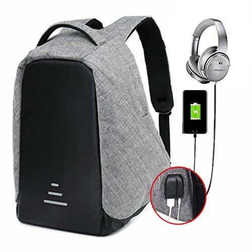 Zaino per laptop 15,6 pollici uomo zaino unisex multiuso zaino per pc portatile da donna borsa universitaria daypack per la scuola business grigio (grigio)