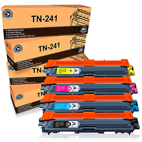 FITU WORK TN241 TN245 Sostituzione per Brother TN241 TN245 Toner Compatibile con Brother DCP-9020CDW DCP-9015CDW HL-3140CW HL-3150CDW HL-3170CDW MFC-9140CDN MFC-9330CDW MFC9340CDW(4 Pacchi)