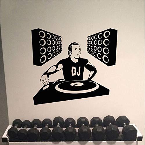 Wsxxnhh Wand Zimmer Dekor Kunst Vinyl Aufkleber Wandtattoo Dj Edm Poster Spinning