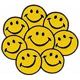 Parche plancha de planchar Iron on patches applikation Smiley Cara caritas sonrientes Ropa Infantil