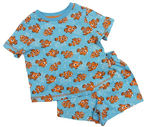Ex-Store Finding Nemo Pyjamas Short and T Shirt Set Age 12-18 Month to 9-10 Year