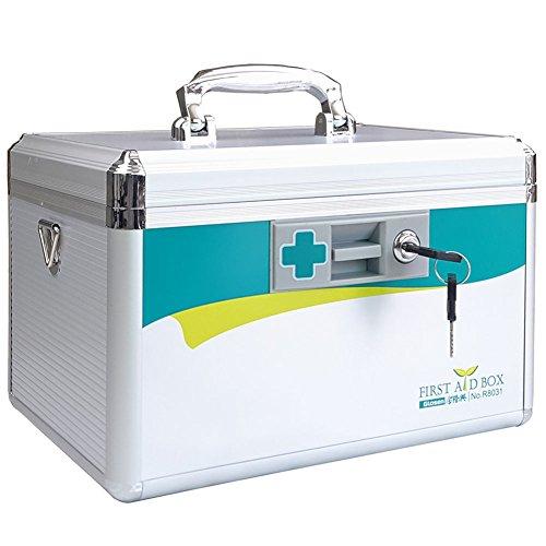 LIVSTON Box mit Schloss, Erste-Hilfe-Box, Medizin, Kinder, für die Therapie Schrank, leicht, Aufbewahrungsbox