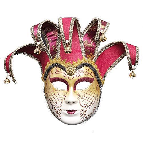 ZHAORLL Venezianische Maske Maskerade Maske Persönlichkeit Karneval Make-Up Halloween Kostüm Kleid Ball Party Dekoration Supplies Maske,B