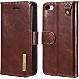 DG MING IPhone 5 5s SE Case Flip Cover Leather Wallet Magnetic Detachable Back Cover Works With Magnetic Car Stand For Apple IPhone 5 IPhone 5s IPhone SE - Vintage Coffee