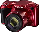 Digital Cameras Best Deals - Canon Powershot SX420 IS Digital Camera | 20 MP | 42x Optical Zoom | Red Color with 8GB memory card and camera case