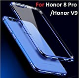 for Honor 8 Pro Cases {MobiTussion} Original 100% 360 Degree Camera Protection Soft Electroplating TPU Ultra Thin Silicon Transparent Blue Plating Cover case for Honor8 Pro