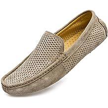 Mocasines/Zapatos de Hombre Mocasines de conducción para Hombre Mocasines Huecos de Cuero Genuino Superior