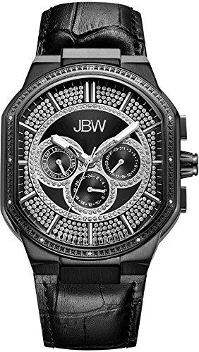 JBW Orion Orologio da polso uomo Diamante Bracciale in pelle Svizzero al quarzo j6342d