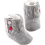 Transer® Baby Girls Winter soft sole cuna caliente botón Bota de niño de algodón prewalker zapatos Flats