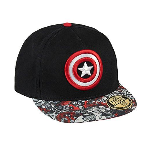 0ddb26d78f576 Marvel Comics Gorra Béisbol New Era Premium Captain America Shield Logo