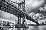Grande Art Manhattan Bridge New York USA Poster XXL Decorazione da Parete 140 cm x 100 cm