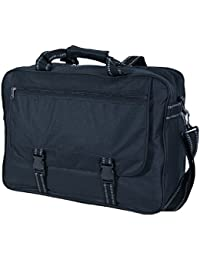 Black Extra Large Flight Messenger Bag with Organiser - Holds Lever Arch A4 folders