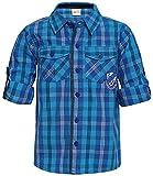 FS Mini Klub Boys' Regular Fit Shirts (88KBTSH0382 BLUE PLAID 1_4 - 5 Years, Blue, 4 - 5 Years)