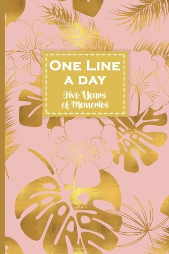 One Line a Day, Five Years of Memories: Gold Monstera, A Five Year Memoir, 6x9 Dated and Lined Diary (One Line a Day: a Five Year Memory Book)