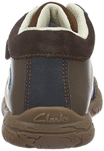 Clarks Kids Jungen Brontoroar Inf Kurzschaft Stiefel Braun (Brown Leather)