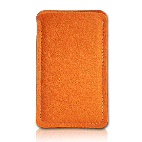Filz Style Nokia P1 Filz Handy Tasche Hülle Etui passgenau für Nokia P1 - Farbe orange