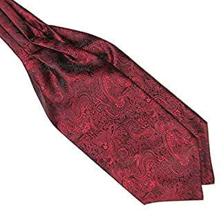 Livecity® Men's Cravat Silk Blend Ascot Tie Wedding Necktie Banquet Neck Tie