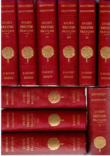 Ancien théâtre françois (français) ou Collection des ouvrages dramatiques - 10 volumes dont le Glossaire