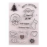 CoralStore - Timbro in silicone trasparente a forma di Babbo Natale, per fai da te, scrapbooking, goffratura, album fotografici decorativi, carta artigianale, regalo di Natale