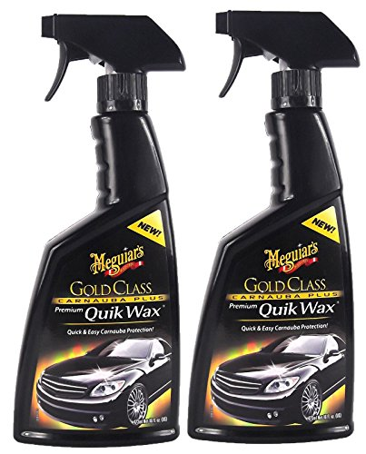 2x MEGUIAR\'S MEGUIARS Gold Glass Carnauba Plus Quik Wax Sprühwachs 473 ml