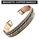 New Tribal Style Copper / Gold Magnetic Unisex Bangle In Blister Pack