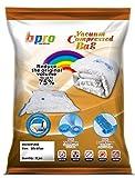 Bpro - Bolsas de almacenaje al vacío para ropa, edredones o almohadas con sistema de cierra al vacío (12 unidades, 80 x 60 cm)