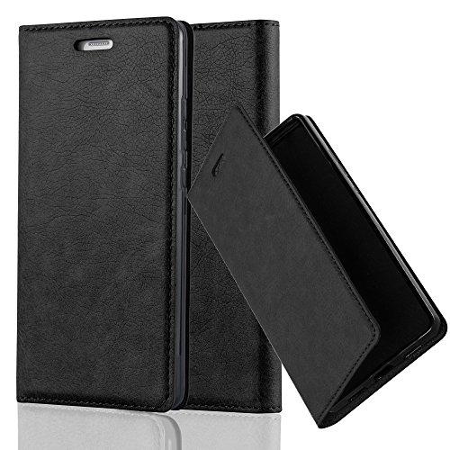 Cadorabo custodia libro per huawei p9 in nero di notte – con vani di carte, funzione stand e chiusura magnetica – portafoglio cover case wallet book etui protezione