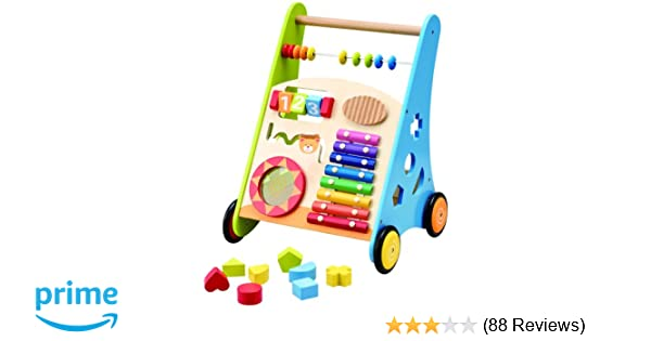 13a1f6ea6 Wooden Toys Wooden Activity Baby Walker  Amazon.co.uk  Toys   Games