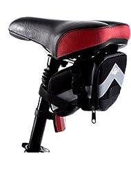 Bolsa BTR con forma de cuña para sillín de bicicleta con tiras reflectantes 3M y cremalleras resistentes al agua